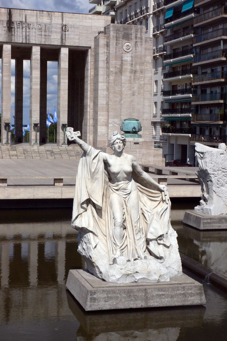 Lola Mora's sculpture in Rosario, Argentina