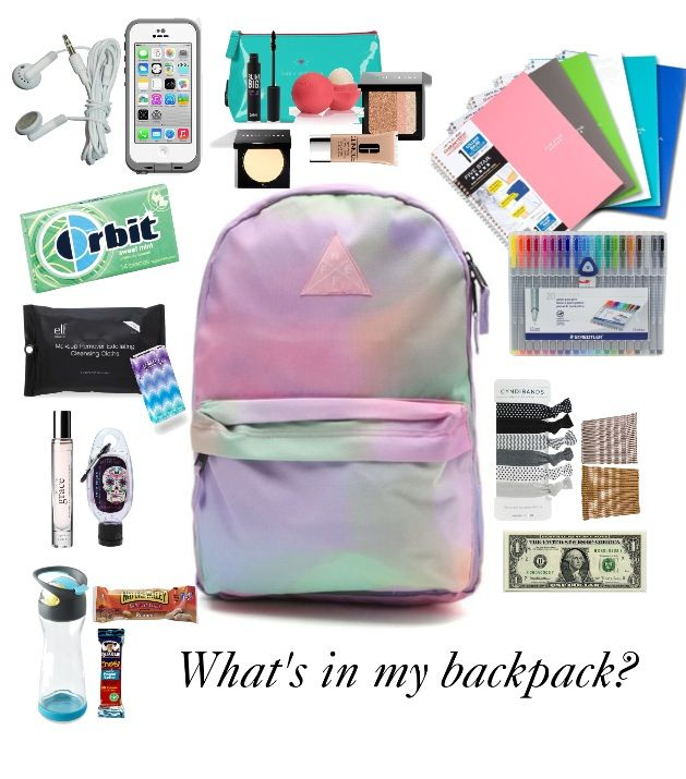 What's in my backpack?  Backpack school essentials locker back to school 2014
