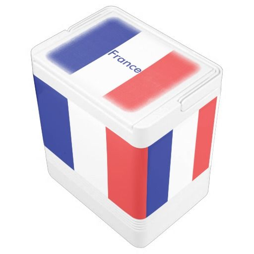 France flag chest cooler