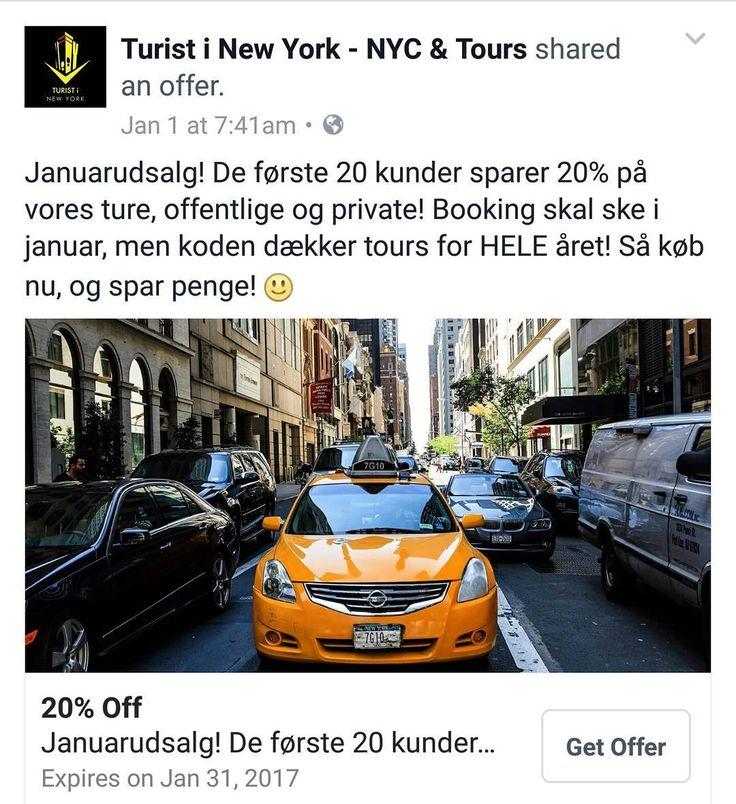 Spar 20% på alle vores #sightseeingtours! Brug koden TiNY2017 når du booker. Koden er gældende resten af januar til alle ture i #2017! . . . . . #turistinewyork #nycandtours #travel #touristguide #guidelife #danskguide #dansktourguide #sightseeing #newyorkcity #instadaily #travelgram #ferie #sommerferie #turengårtilnewyork #tilbud #sparpenge #januarudsalg #danmark