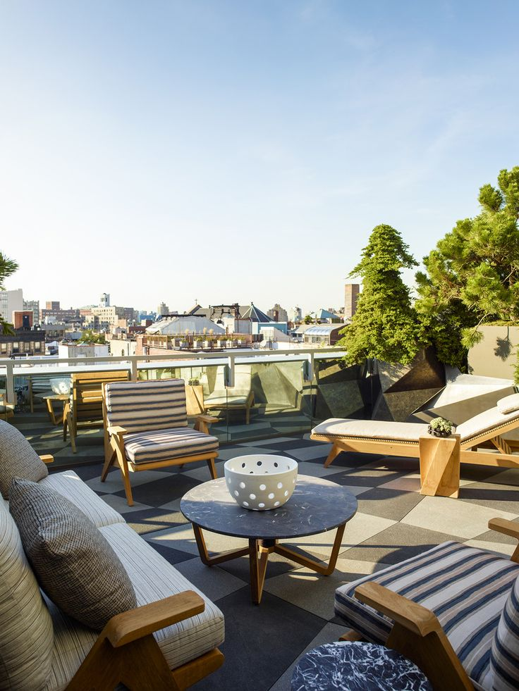 KELLY WEARSTLER | INTERIORS. Rooftop Terrace. Blodgett Residence, New York