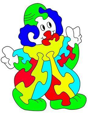 Dekupiersäge Vorlagen Kostenlos Ausdrucken Clown Puzzle Kinder
