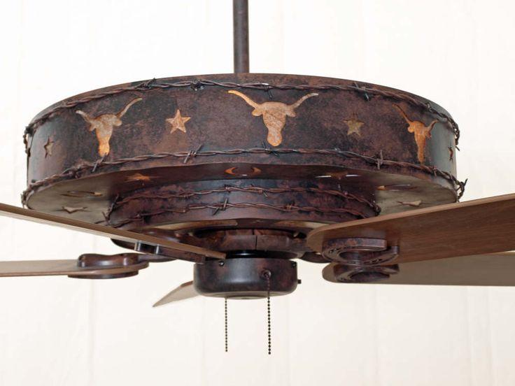rustic ceiling fans | Longhorn Ceiling Fan