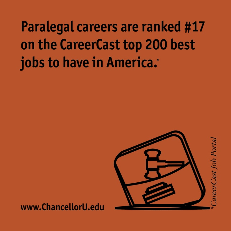 Beautiful Paralegal Careers Are Ranked Among The 20 Best In The Nation By CNNMoney.  Find This Pin And More On Career: Criminal Justice Degree ...