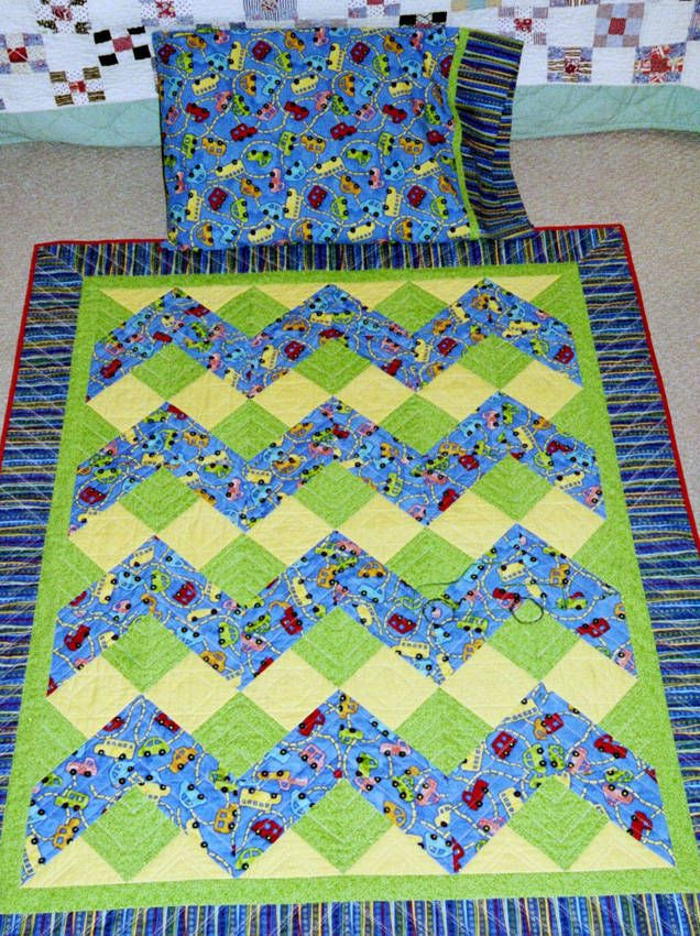 kids quilt blocks free | Baby Quilts Photo Gallery - John's Truck Quilt