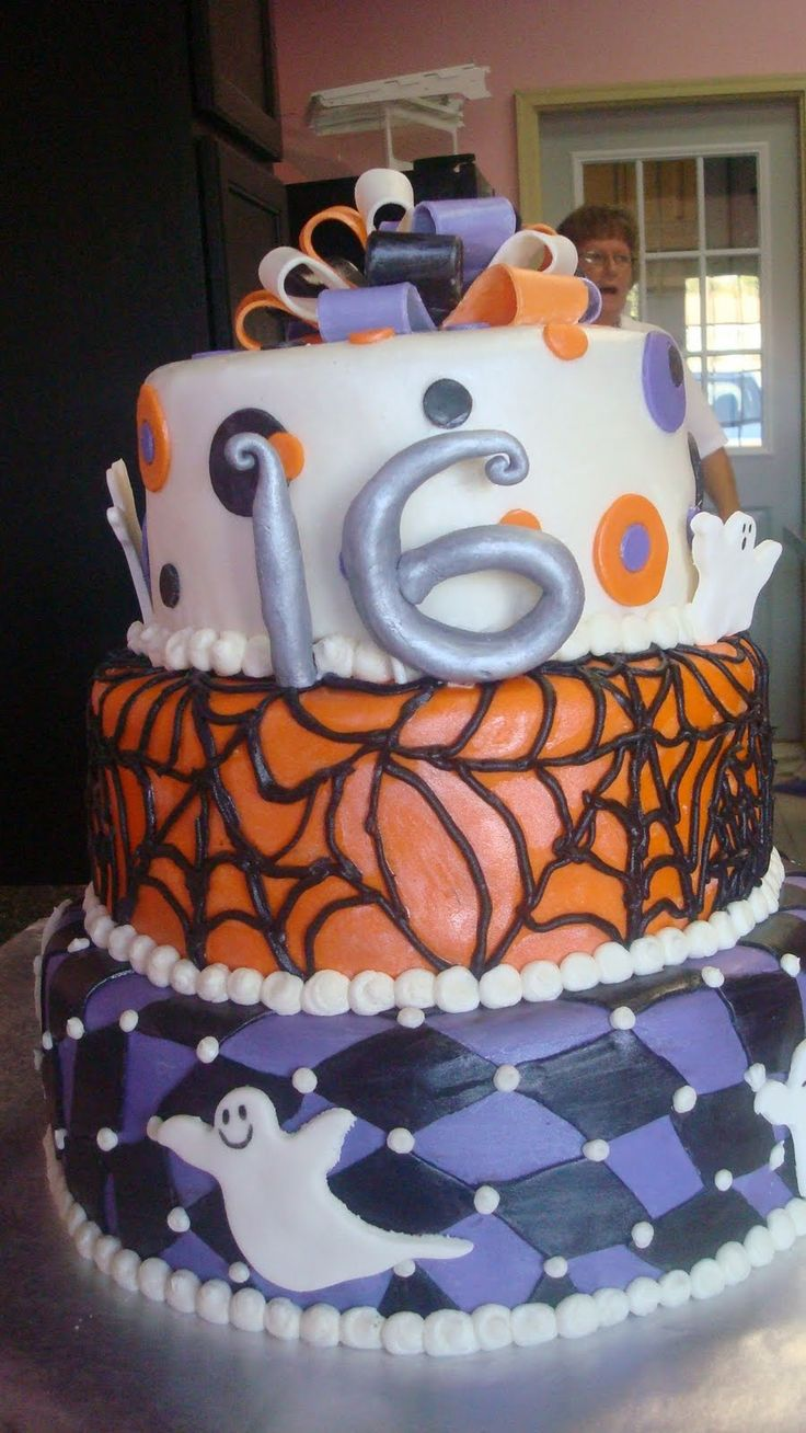 16 Birthday Halloween Birthday Party | Times As Sweet Cakes: Halloween Sweet 16
