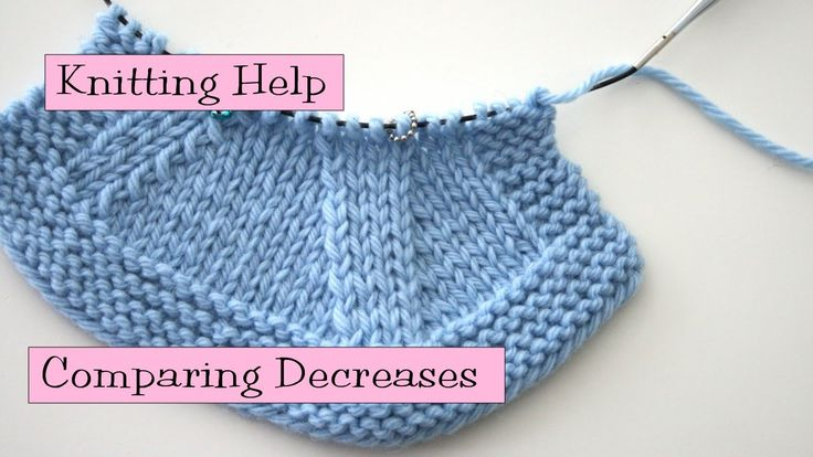 Kfb Knitting Help : Knitting help comparing decreases and