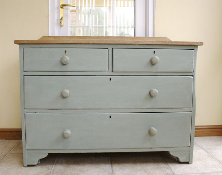 Meuble Commode Ikea Shabby Chic Antique Pine Chest Of Drawers. Painted In A