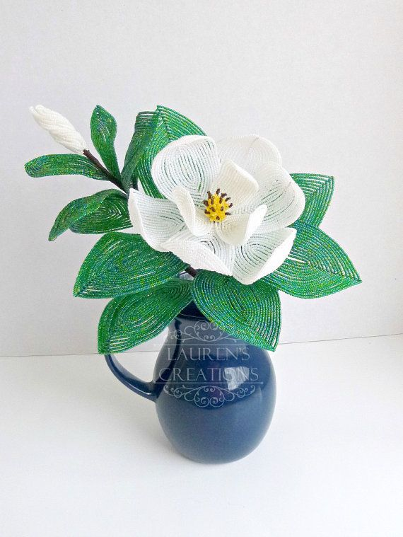 Hey, I found this really awesome Etsy listing at https://www.etsy.com/listing/218491415/custom-southern-magnolia-french-beaded