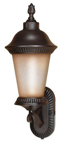 Nuvo Lighting 60/2502 Clarion Outdoor Large Wall Lantern Arm Up with Photocell, Brushed Wheat Glass, Chestnut Bronze by Nuvo. Save 43 Off!. $96.84. From the Manufacturer                Founded in 1966, Satco is well known as a premier supplier of a variety of lighting products.  The SATCO brand includes light bulbs, electrical accessories, lighting hardware and glassware.  Nuvo Lighting was launched by Satco in 2005.  From the beginning, energy efficiency was the cornerstone of N...
