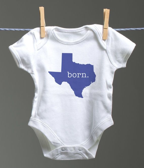 Born Texas State Baby Onsie Born Texas Baby by SnACreative on Etsy