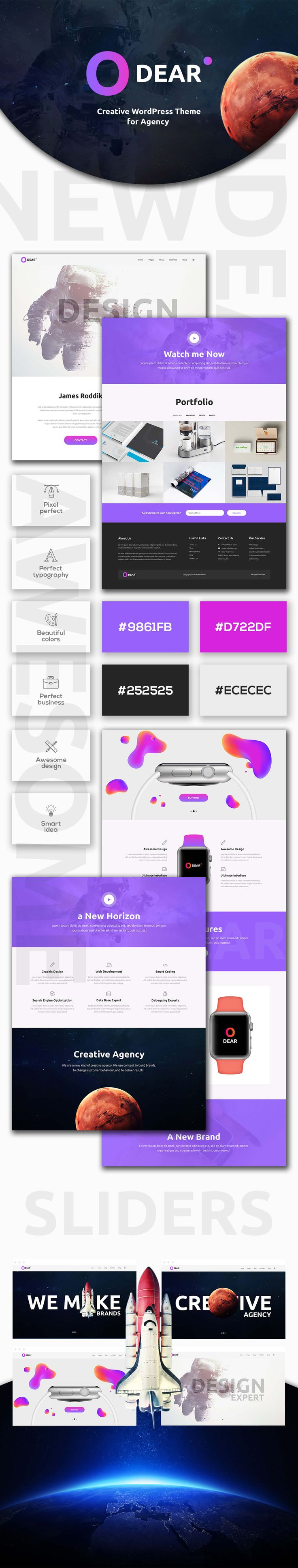 Odear - Multi-Concept Creative WordPress Theme by modeltheme | ThemeForest