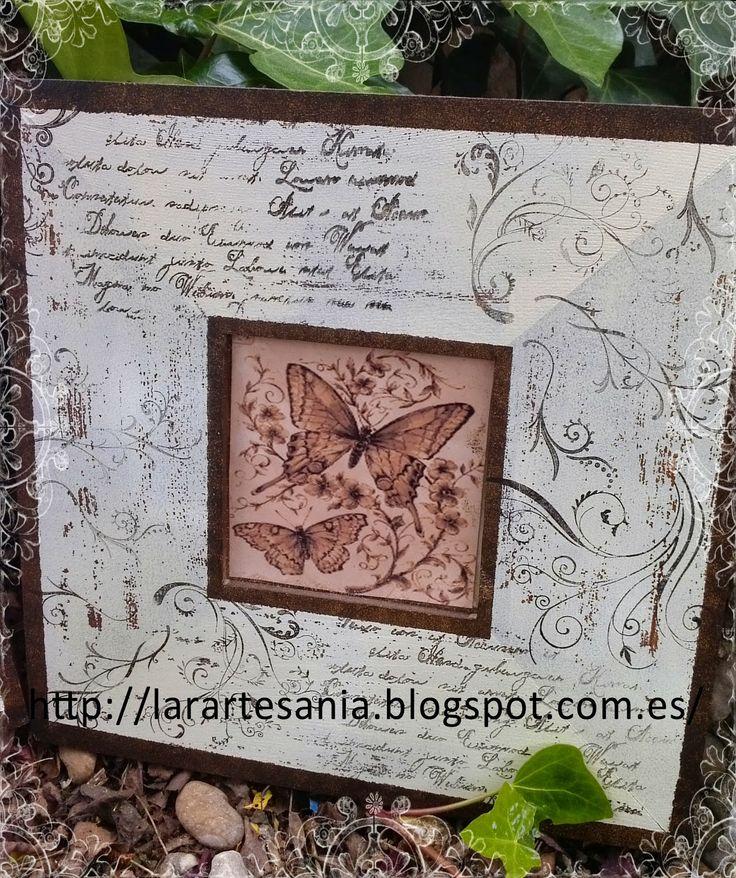 Lara Artes: Malmas decorados con sellos