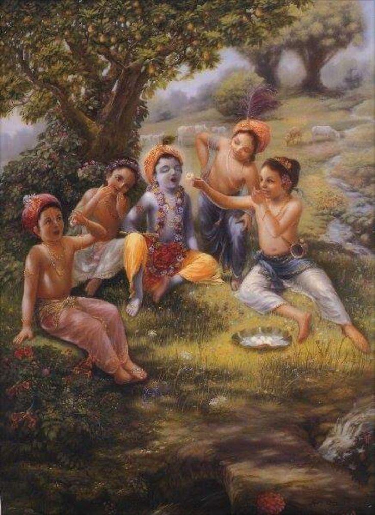 Krishna & cowherds