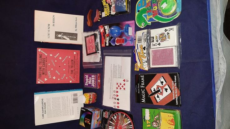 Lot Magic Tricks Books Booklets Gags Cards Ball Vase CHECK-OUT THE PHOTOGRAPHS