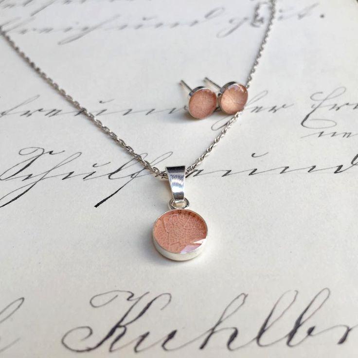 Tilia tomentosa pendant & earrings by pebs on Etsy