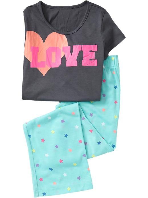 "Old Navy | Girls ""Love"" Graphic PJ Sets"