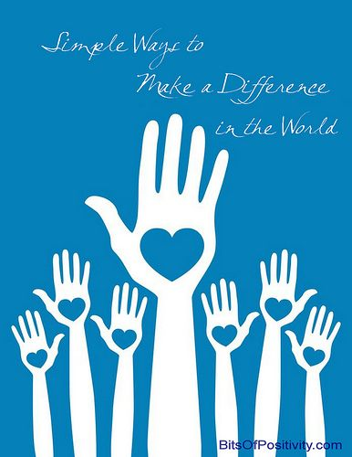 Simple Ways to Make a Difference in the World
