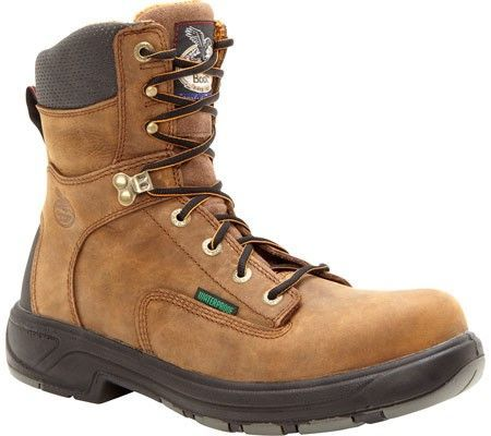 Georgia Boot Men's G9644 FLXPoint Composite Toe 8' Boot Brown Size 8.5 W