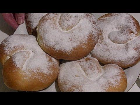 Сахарный,дрожжевой пирог со сливочной заливкой. - YouTube