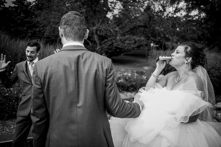 Rock & Roll Wedding inspiration theme. Wedding ceremony at humber arboretum in Toronto.