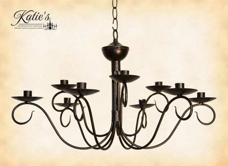 17 Best ideas about Primitive Lighting – Wrought Iron Candle Chandelier