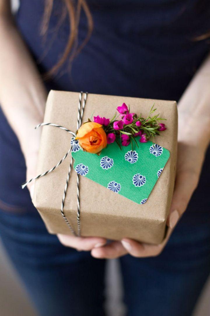 Ideia de embalagem de presentes super charmosa para o dia das mães