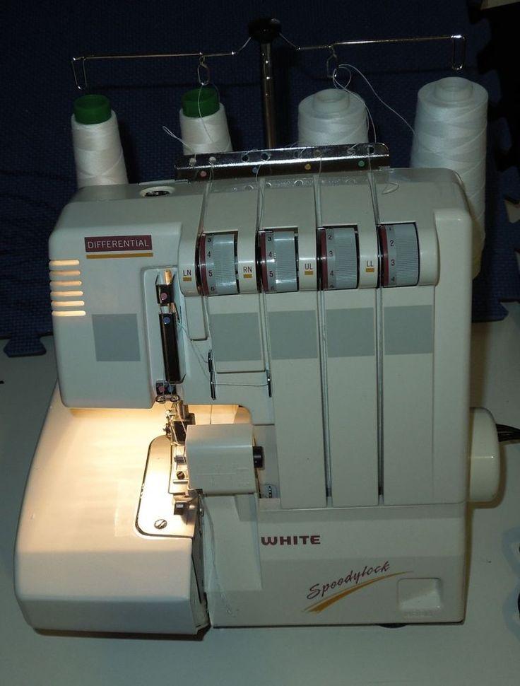 Details About White Speedylock 7340 Serger Sewing Machine