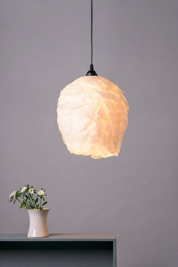 Elegant Pendant Light Paper Shade Ceiling Lamp Nordic White Hanging