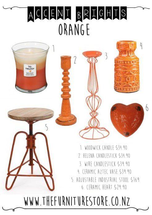 Trending Interior Decor   Accent Brights   Electric Brights   Tangerine  Orange   The Furniture Store