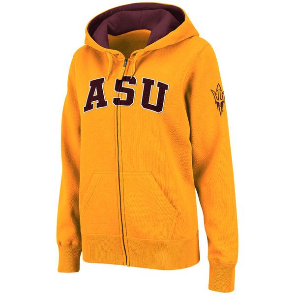Arizona State Sun Devils Stadium Athletic Women's Arched Name Full-Zip Hoodie - Gold - $39.99
