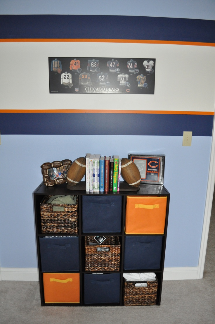 Storage for Chicago Bears room