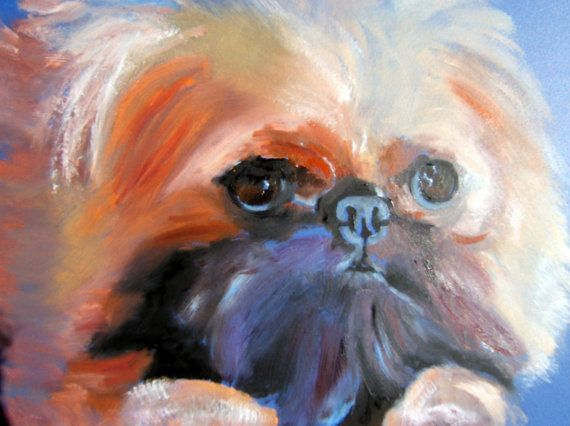 "Brussels Griffon Dog Art / ""As Good As It Gets"" / by Original Mike Holzer on Etsy, $13.50"
