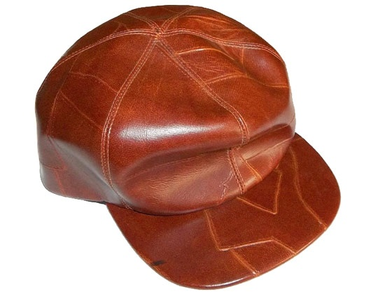 vintage vegan leather patch fitted cap baseball caps brown hat
