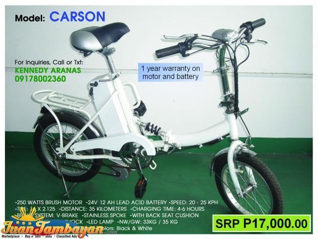 Carson Folding Electric Bike Bi An Juan Tambayan