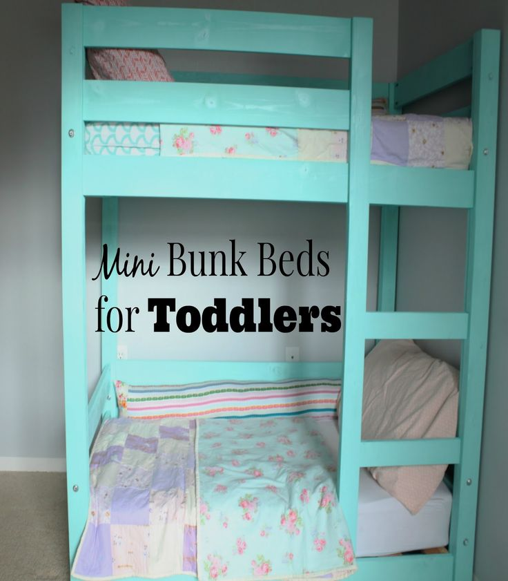 my little deers diy mini bunk beds for toddlers costs less than 100 - Bunk Beds For Kids Plans