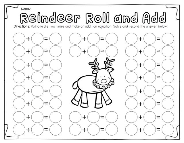 Ship Shape First Grade: roll, add, color