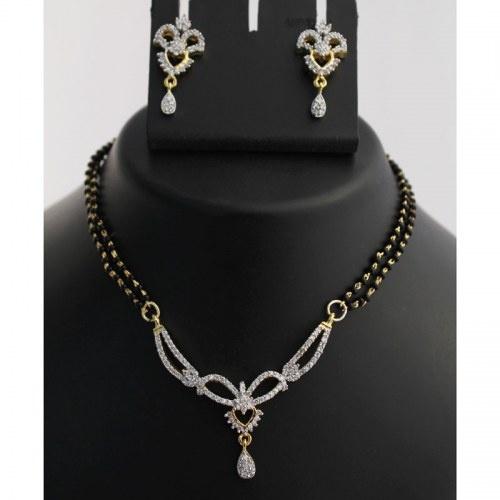 Gold Finish Mangalsutra Necklace Set