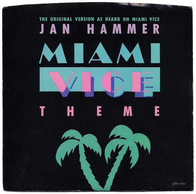 Miami Vice Theme b/w Evan; The Original Miami Vice Theme.  Jan Hammer, MCA Records/USA (1985)
