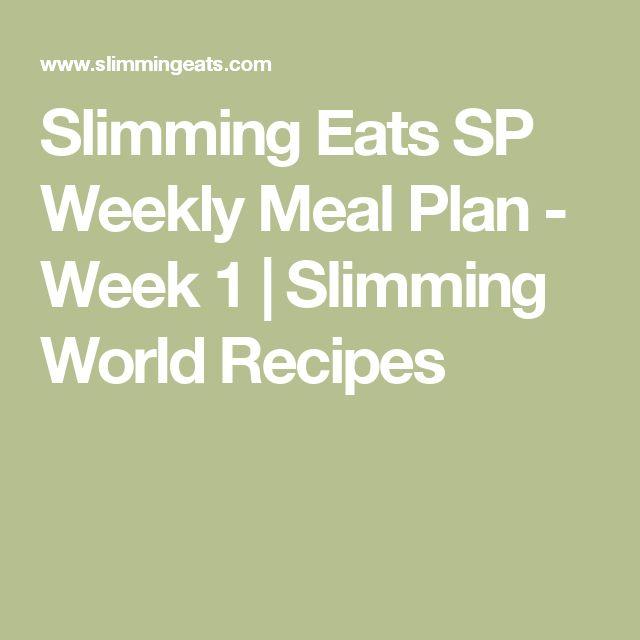 Slimming Eats SP Weekly Meal Plan - Week 1 | Slimming World Recipes