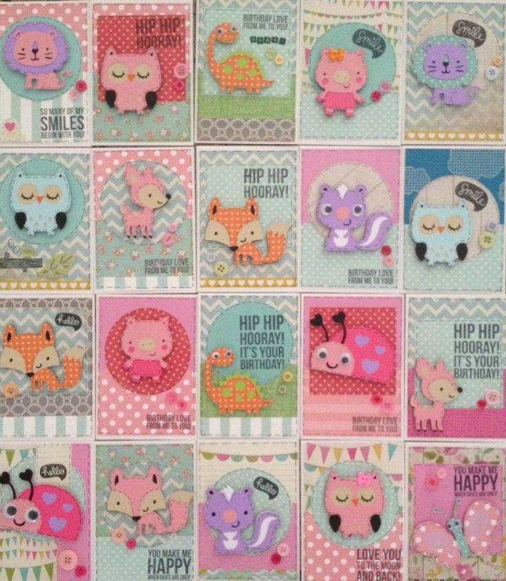 Create a critter cricut cards birthday cards stamps and buttons willow fox design www.facebook.com/willowfoxdesigns
