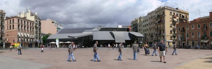 Imagen del mercado de la Barceloneta creada con el programa PTGui.