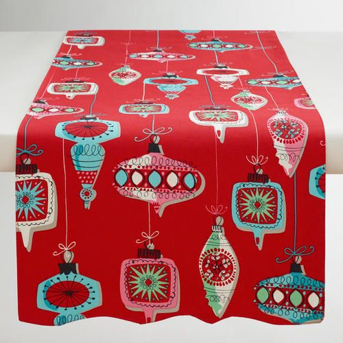 One of my favorite discoveries at WorldMarket.com: Vintage Ornaments Table Runner