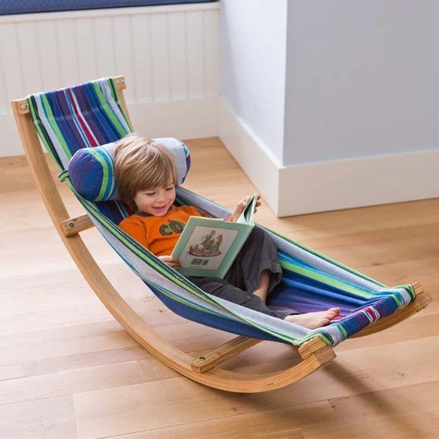 Get your little one a perfect play cum nap time area through this colorful and decorative Rocking Hammock. The design is compact and lightweight with the f