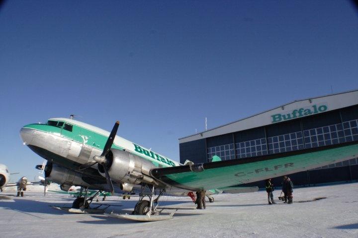 Buffalo Airways DC-3 on skis