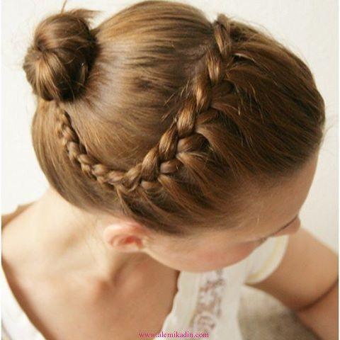 Örgülü Topuz Saç Modelleri 17