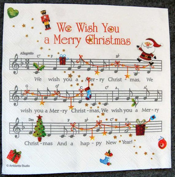 53 Best Piano Music Christmas Songs Images On Pinterest: 25+ Best Ideas About Christmas Napkins On Pinterest