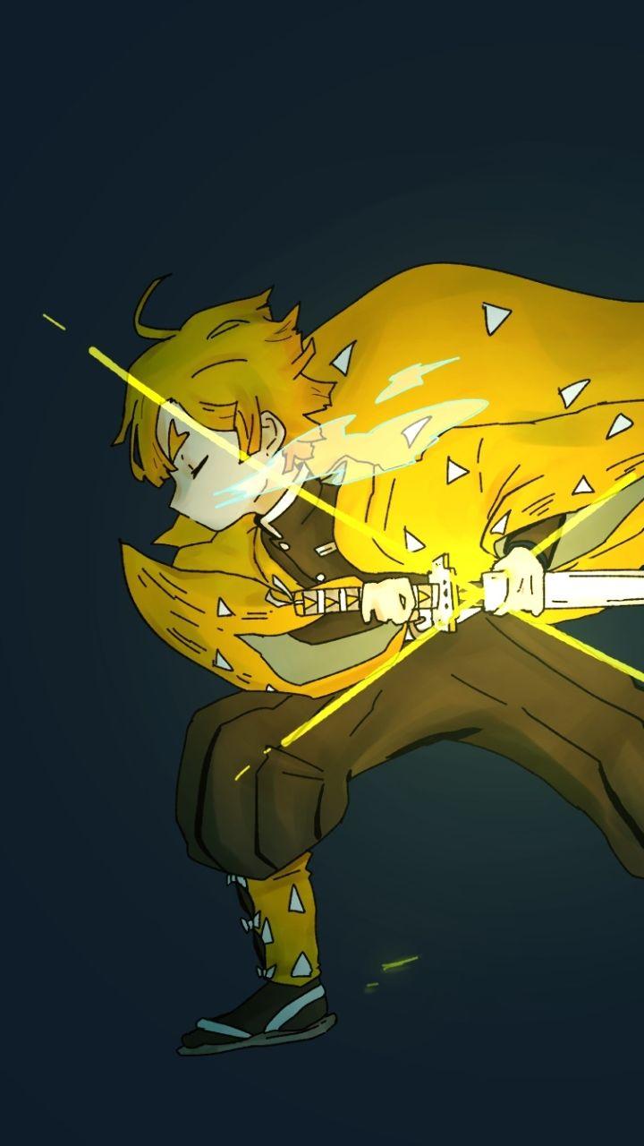 Zenitsu Demon Slayer Aka Kimetsu No Yaiba Anime Background Anime Wallpaper Anime