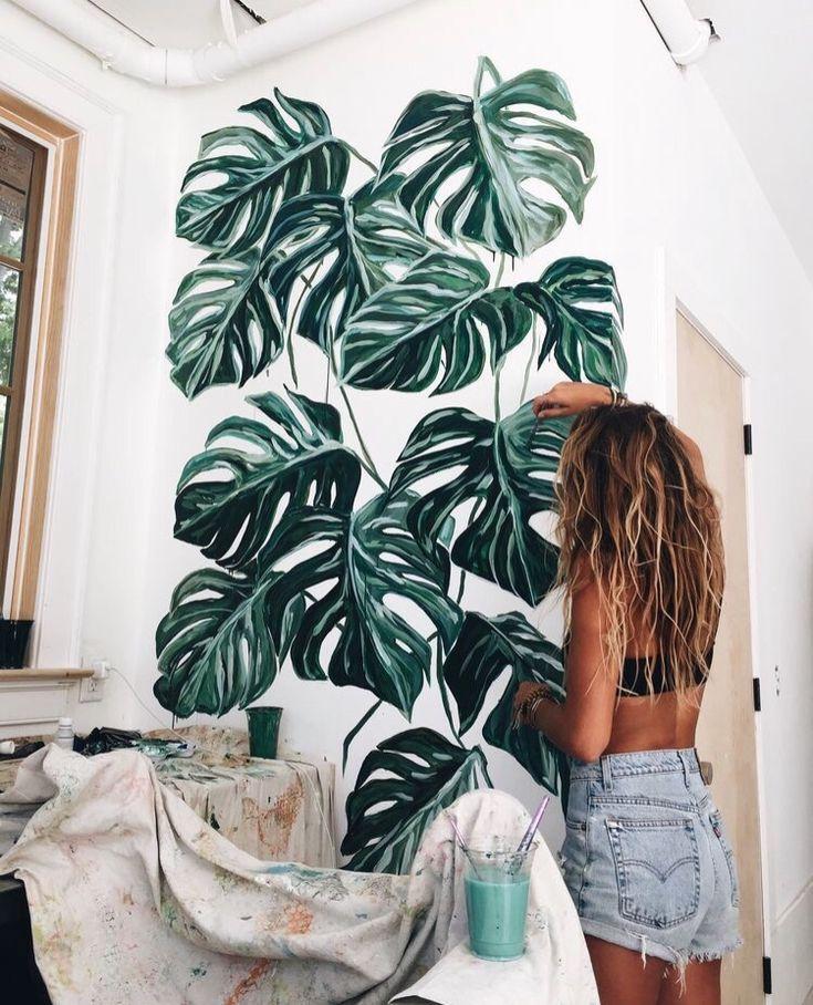 pflanzen an die Wand malen