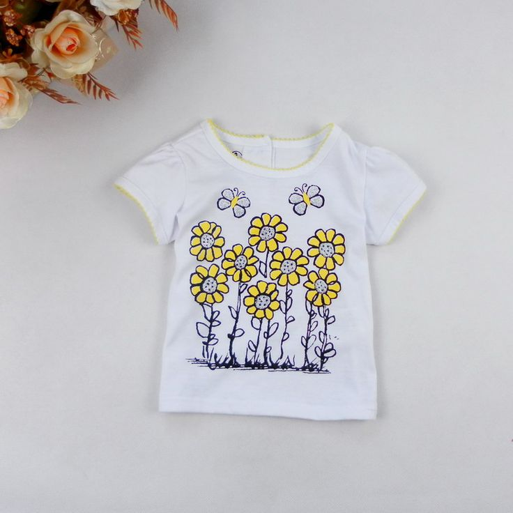 Специальные детские детей огрехи с коротким рукавом летом детская одежда новорожденных девочек случайные короткими рукавами футболки DT1040- Taobao